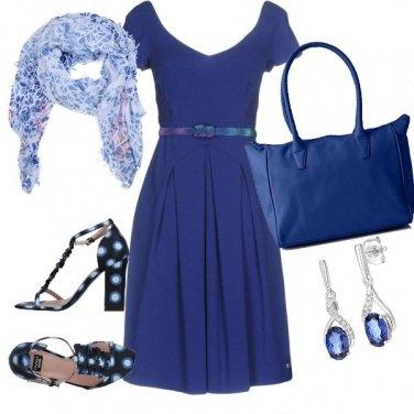 Outfit Fresca primavera in blu