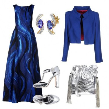 Outfit Blue e silver da red carpet