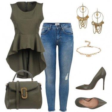 Outfit La blusa ampia nel fondo