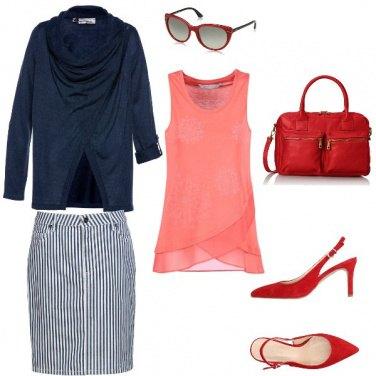 Outfit Una sfumatura di rosso
