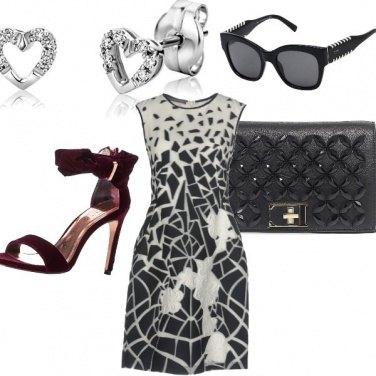 Outfit Cerimonia black-white