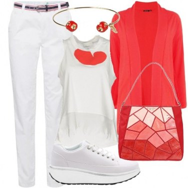 Outfit Casual rosso