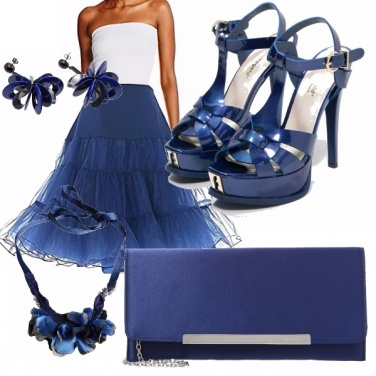Outfit Tulle blu