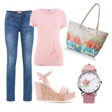 Outfit Casual in pink
