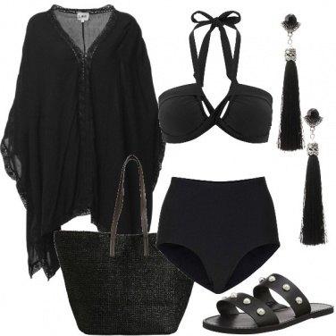 Outfit Nero sotto l\'ombrellone