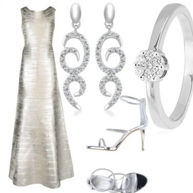 Outfit Silver cannes