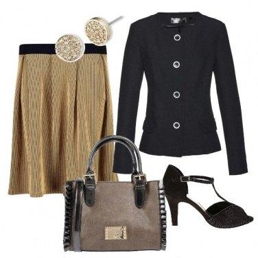 Outfit La gonna metalizzata