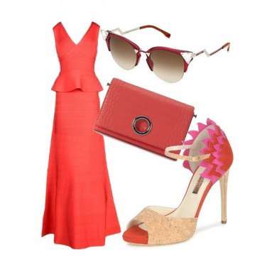 Outfit Upper class red