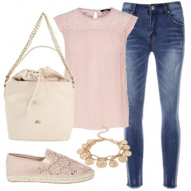 Outfit Rosa shopping