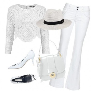 Outfit Romantico bianco
