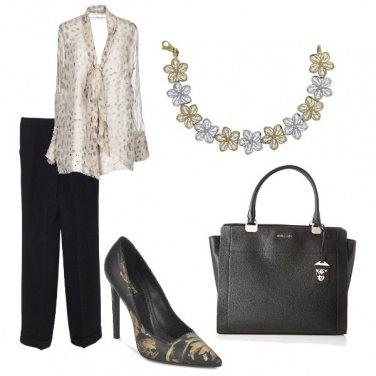 Outfit La collana oro e silver