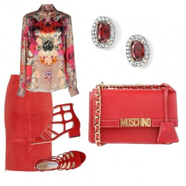 Outfit Rosso totale