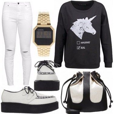 Outfit Black&white unicorn