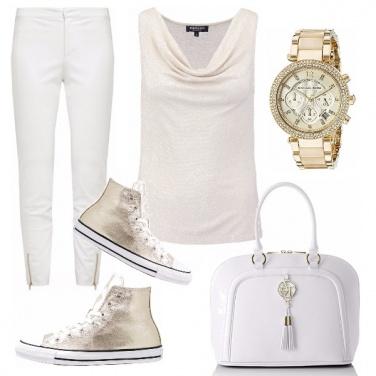 Outfit #oro e bianco