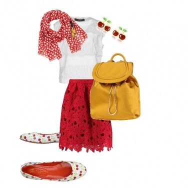 Outfit Trendy Red