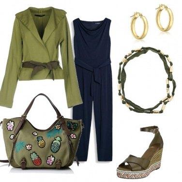 Outfit Verde e blu