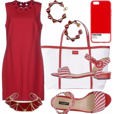 Outfit Pantone - red