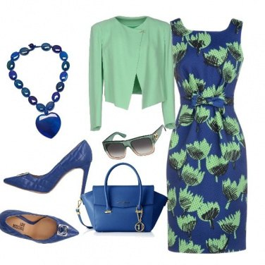 Outfit Green and blue