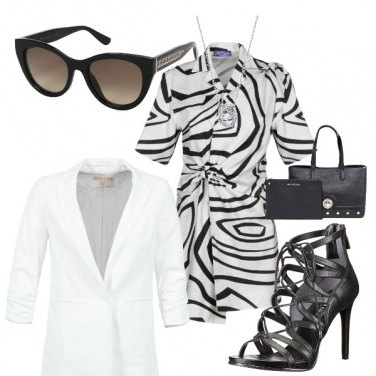 Outfit Bianco nero