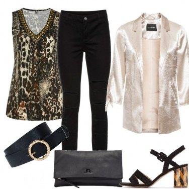 Outfit La cintura sulla giacca