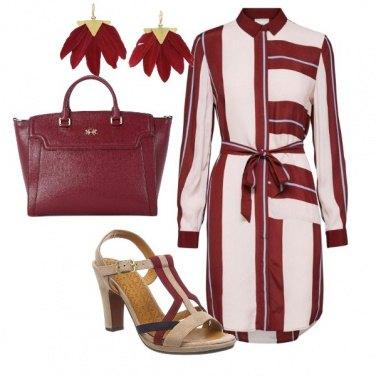 Outfit L' abito con le righe