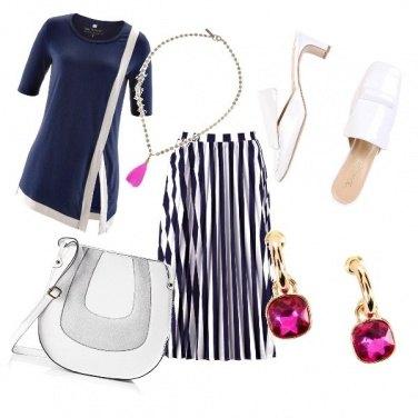 Outfit Geometrie blu navy