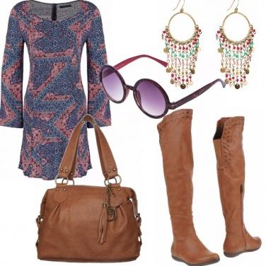 Outfit Stivali borchiati