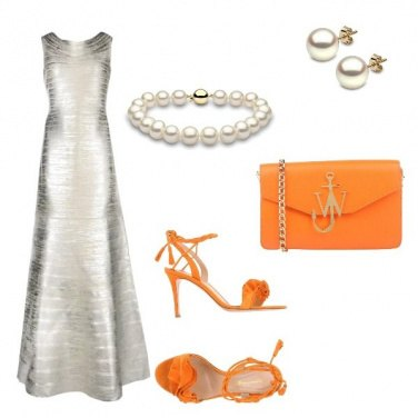 Outfit Festival di Cannes: pearls and orange