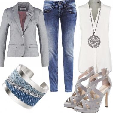 Outfit Blazer grigio