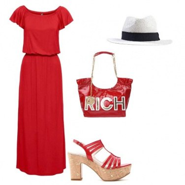 Outfit Estate Total red