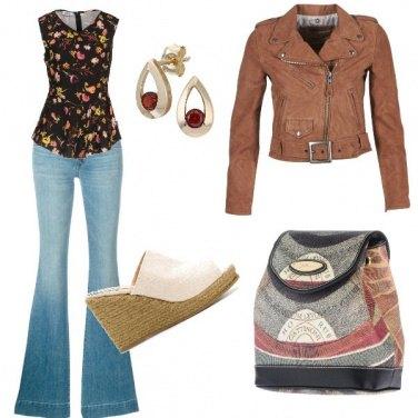 Outfit Zampa zeppa e biker