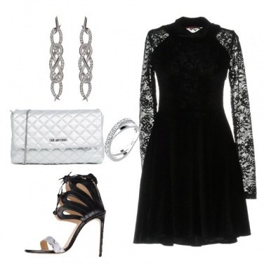 Outfit Il vestito corto in pizzo