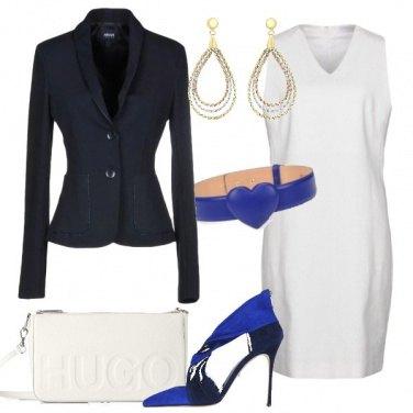 Outfit Cintura sul vestito bianco