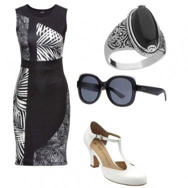 Outfit Tubino bianco e nero