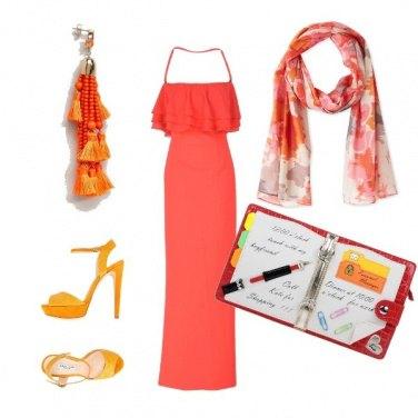 Outfit La borsa stile agenda