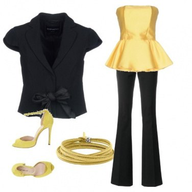 Outfit Black and yellow