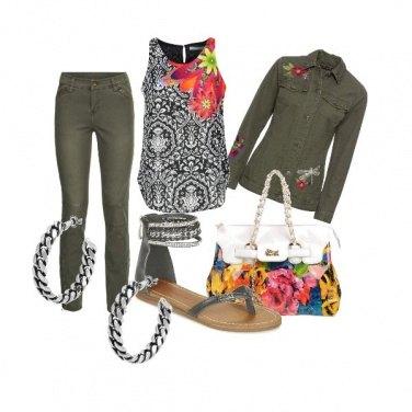 Outfit CMPS Militare floreale
