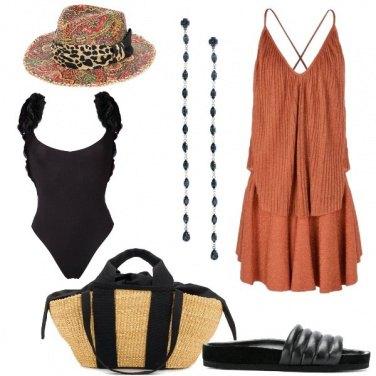 Outfit Il copricostume arancione
