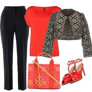 Outfit Chic in black and orange