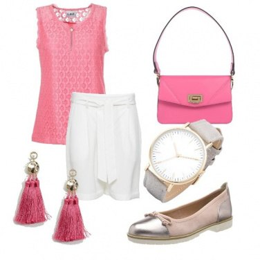 Outfit Rosa ufficio