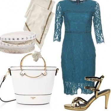 Outfit Un tocco di blu petrolio