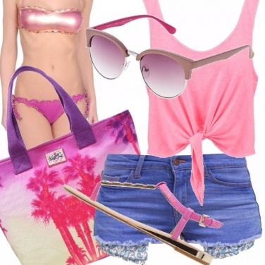 Outfit Vacanze in rosa