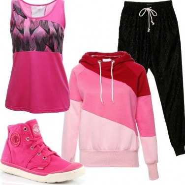 Outfit Comoda in rosa shocking