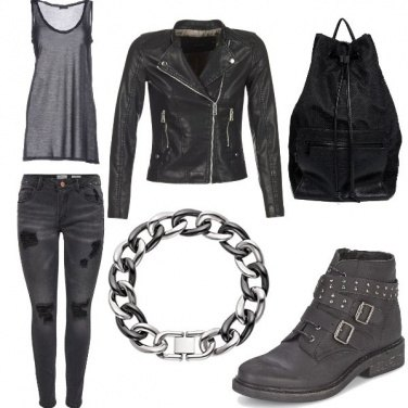 Outfit Woman biker
