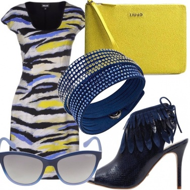 Outfit Estate in giallo e blu
