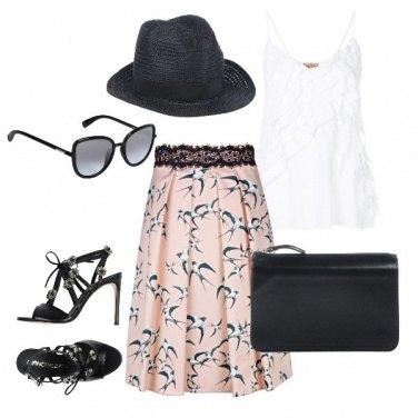Outfit La gonna con le rondini
