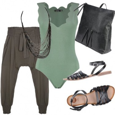 Outfit Green power