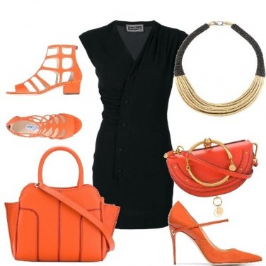 Outfit Tubino nero giorno/sera