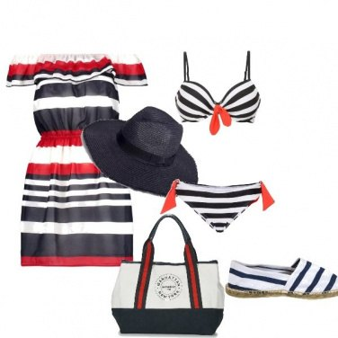 Outfit Mare a righe!