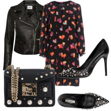 Outfit Perle e pelle